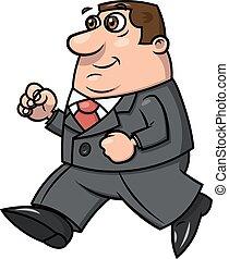 Smiling businessman running 2 - Illustration of the running...