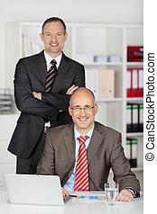 Smiling businessmen