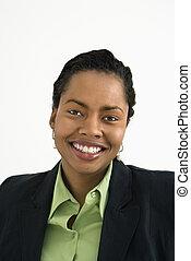 Smiling businesswoman portrait.