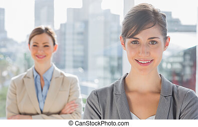 Smiling businesswomen