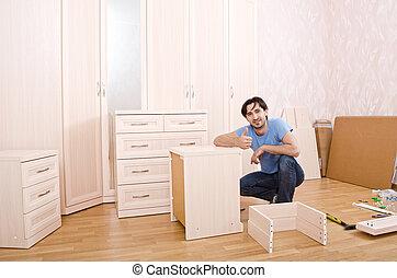 carpenters of furniture - smiling carpenters of furniture...