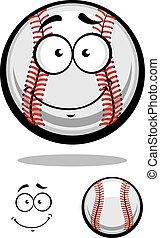 Smiling cartoon baseball ball