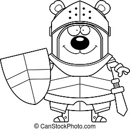 Smiling Cartoon Bear Knight
