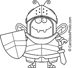 Smiling Cartoon Bee Knight