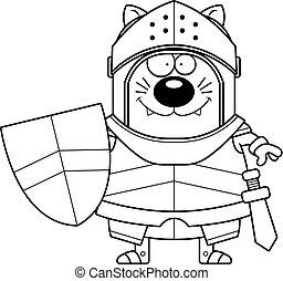 Smiling Cartoon Cat Knight