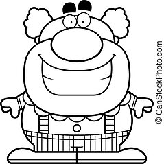 Smiling Cartoon Clown