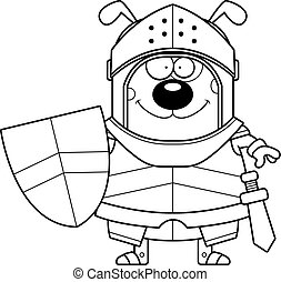 Smiling Cartoon Dog Knight