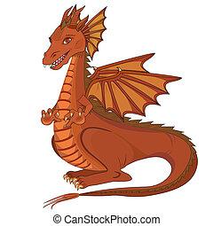 Smiling cartoon dragon