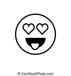 Smiling Cartoon Face Positive People Emotion Icon