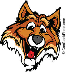 Smiling Cartoon Fox Mascot Vector G