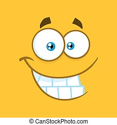 Smiling Cartoon Funny Face With Smiley Expression