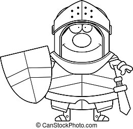 Smiling Cartoon Knight