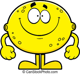 Smiling Cartoon Lemon
