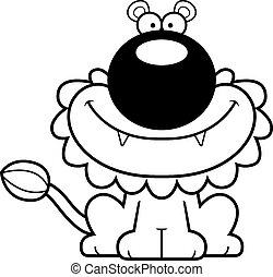 Smiling Cartoon Lion