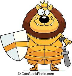 Smiling Cartoon Lion King Armor