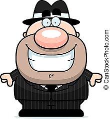 Smiling Cartoon Mobster