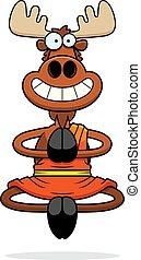 Smiling Cartoon Moose Monk