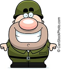 Smiling Cartoon Soldier