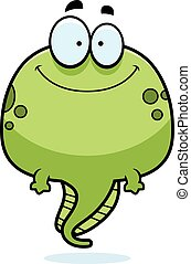 Smiling Cartoon Tadpole