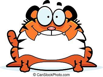 Smiling Cartoon Tiger