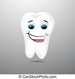 Smiling cartoon tooth