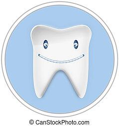 Smiling Cartoon Tooth