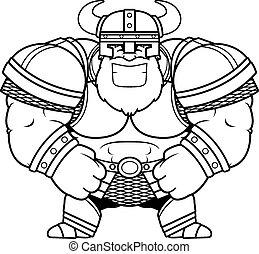Smiling Cartoon Viking
