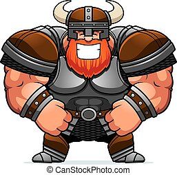 Smiling Cartoon Viking