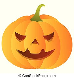 Smiling carved pumpkin