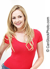 Smiling casual woman