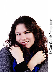 Smiling Caucasian Woman With Arms Crossed Over Chest