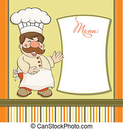 Smiling Chef and Menu