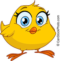 Smiling chick - Cute smiling chick