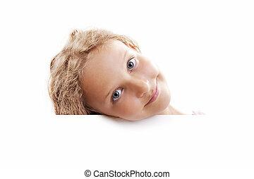 Smiling Child Girl Banner