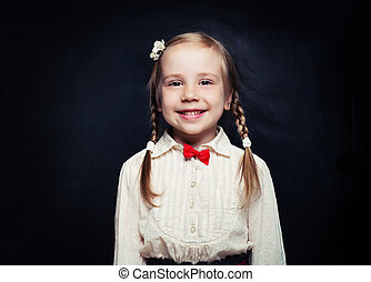 Smiling child portrait. Girl 5 years old