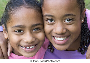Smiling children friends