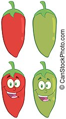 Smiling Chili Pepper. Collection