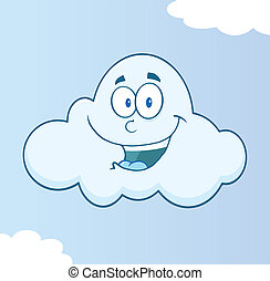 Smiling Cloud Character