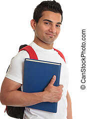 Smiling college student - Smiling male college or university...