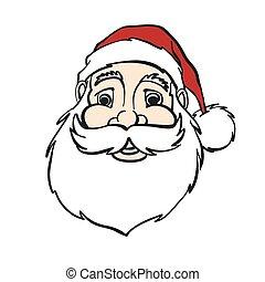 Smiling Comic Santa Claus Portrait