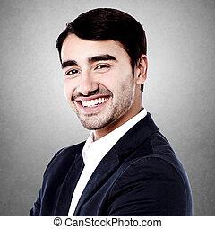 Smiling confident business executive