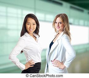 Smiling confident business woman