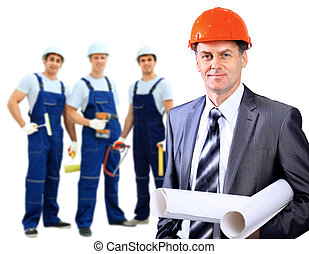 Smiling Construction worker man