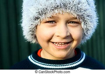 Smiling cute boy