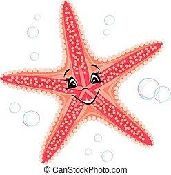 Smiling cute starfish