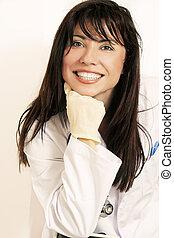 Smiling Doctor or nurse