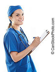 doctor write on board