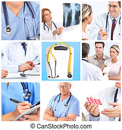 doctors - Smiling doctors and patients