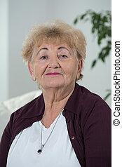 Smiling elder woman