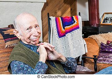 Smiling Elderly Gentleman